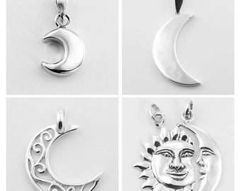 PREORDER! 50% Off CRESCENT MOON silver pendant collection