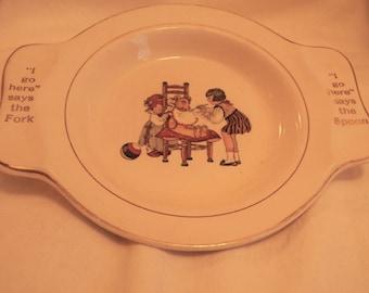 Vintage International Silver Co. Child's Feeding Dish