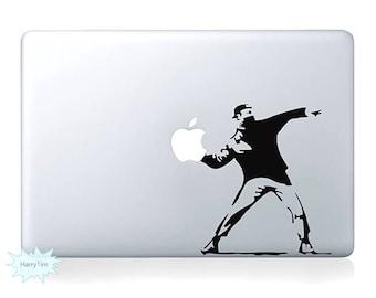 Throwing apple Decal Mac Stickers Macbook Decals Macbook Stickers Apple Decal Mac Decal Stickers Laptop Decal