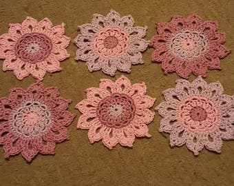 Set of 6 coasters in cotton