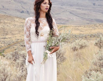The May Gown | Bohemian wedding dress| Low back | Beautiful  lace