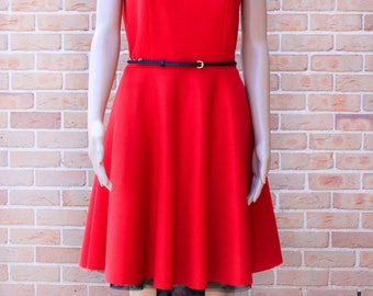 Red Wool Dress/VH1701DR201RD