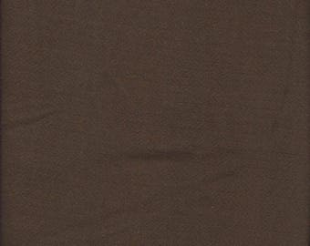 2 yards of brown herringbone woven fabric
