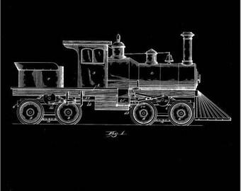 A J Huber Train Engine Patent #462556 dated November 3, 1891.