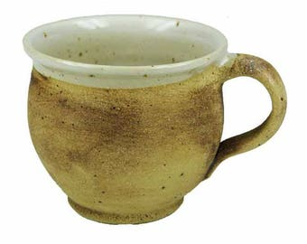 Ceramic Cup small bulbous earthy