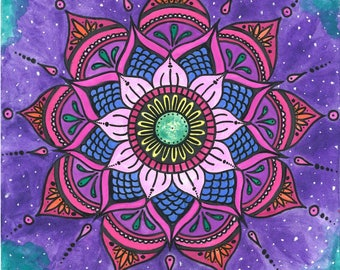 Watercolor Mandala Print