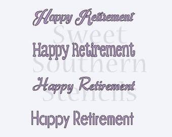 Happy Retirement Cookie Stencil