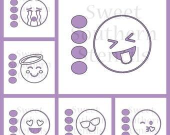 Emoji PYO Cookie Stencils (7 separate stencils)