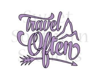 Travel Often Cookie Stencil