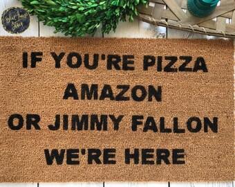 Pizza doormat | Etsy