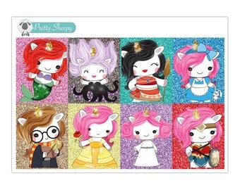 Unicorn Character Full Box Stickers