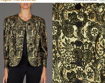 ON SALE ON Sale Vintage Gold Brocade Jacket