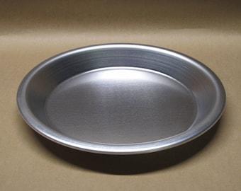 """Pie Pan 9"""" Inch Aluminum Seamless Hand Spun, Handmade, New, Metal Spinning,"""