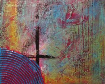 "12""x12"" Original Acrylic Abstract Painting"
