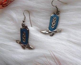 Vintage Cowboy Boot Earrings