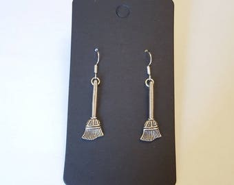 Witches broomstick earrings