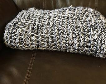 Crochet Blanket- 4x6ft Triple Strand Blanket