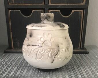 Made to Order Horsehair Raku Small Pet Urn-Pottery Handmade Raku Horsehair Gift Idea Ceramic Simple Art Pet Urn Keepsake Pet Memorial