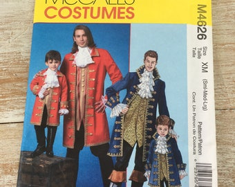 McCalls Costumes for adults, Halloween pirate, jack sparrow, pirates of the Caribbean M4626 OOP Uncut paper pattern--factory folded