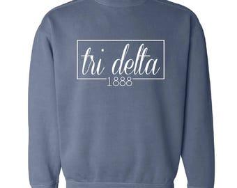 Delta Delta Delta // Tri Delta  // Sweatshirt (Coneria) // Choose Your Color
