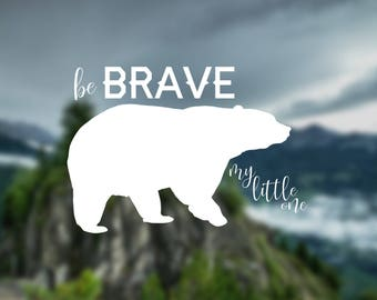 Bear decal, baby decal, nature decal, wall decal, car decal, window decal, nature sticker, gift, decal, door decal