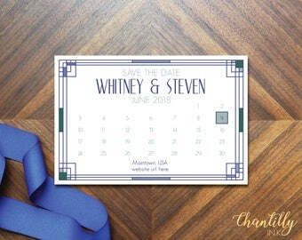 Art Deco Inspired Wedding Save the Date *Digital Download*