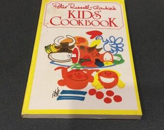 Vintage Kids cookbook, children's book, picture cook book, paper back, 1985