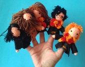 Harry Potter finger puppets /Harry Potter Fan Gift/ Unique Harry Potter Toy or Decor /Harry Potter /Harry Potter Inspired Finger Puppet Set