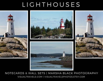 """Lighthouse Photography, """"Lighthouse Wall Art Collection"""", Lighthouse Notecards, Lighthouse Lovers"""