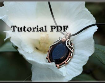 Wire wrap tutorial - Wire wrapped pendant tutorial - Wire jewelry tutorial - Tutorial wire wrapped jewelry - Wire tutorial