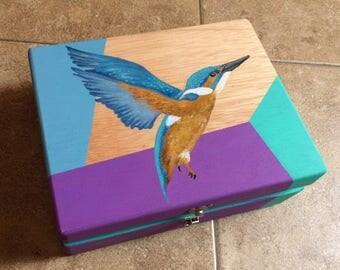 Blue bird wooden box