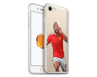 Romelu Lukaku Phone Case - Transparent Case - Clear Case - iPhone 8 - iPhone 7 Plus - iPhone 7 - iPhone X - Football - Manchester United