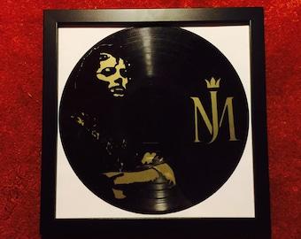 Encadrement Michael Jackson King Of Pop Sculpture sur disque Vinyle // 1 EXEMPLAIRE Seulement