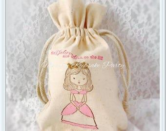 Princess Party Favor Bags - Princess Treat Bags - Princess Party Decorations - Princess Party Gift Bags - Princess Birthday Party Bags