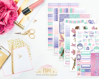 Fairy Garden Kit | Fairy Stickers | Weekly Kit | Fairy Kit | Planner Stickers designed for use with the Erin Condren Life Planner