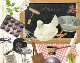 30%OFF Vintage Kitchen Clip Art , Kitchen Clipart, Kitchen Clip Art, Cooking Graphic, Applicance Image , Kitchen tools