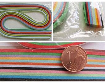 120 bandes de papiers 3mmx52cm Quilling 12 couleurs MIX au choix Loisirs créatifs Scrapbooking Carterie