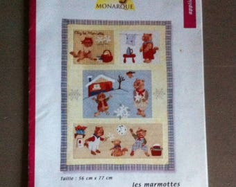 "pattern ""LES MARMOTS"" patchwork with instructions"