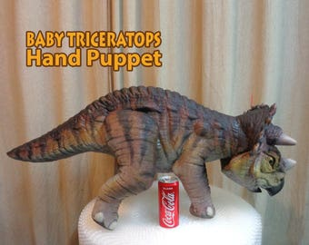 LIFE SIZE Baby Triceratops Hand Puppet