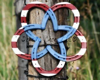 horseshoe star wreath