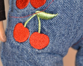 Cherry Covered Jeans for Your 18 inch Doll