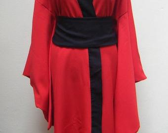 Red & Black long kimono