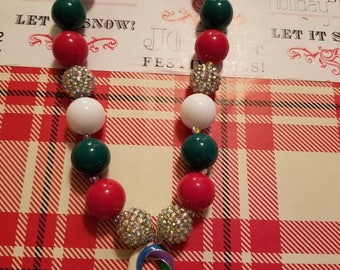 Candy cane Christmas necklace