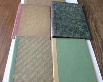 5 Vintage Marblelized Binder Covers Scrapbook Journal Cover