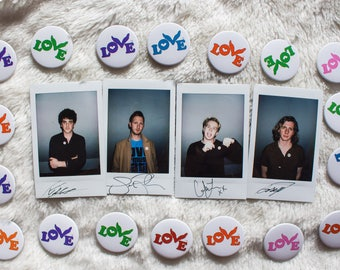Circa Waves • 4 signed polaroids • lovebutton.org