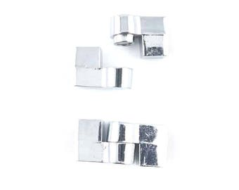 Magnetic 26x12mm silver magnetic clasp (12)