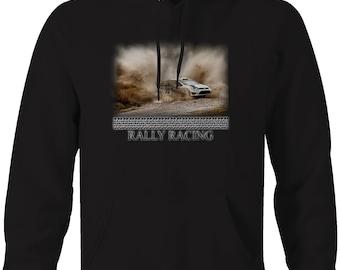 Rally Racing VW Dirt Track Drifting  Hooded Sweatshirt- 5077