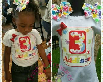 Birthday Shirt, Matching Hair Bow, Hairbow, Headband, Birthday Outfit