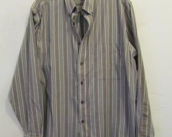 A Men's Vintage 80's,PREPPY Long Sleeve Oxford Shirt By PURITAN.L(42R)