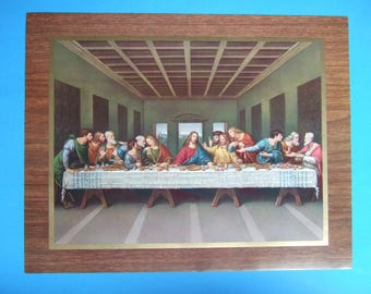 """The LAST SUPPER by di Vinci picture Catholic art print  - 14x11"""" - ready to be framed!"""